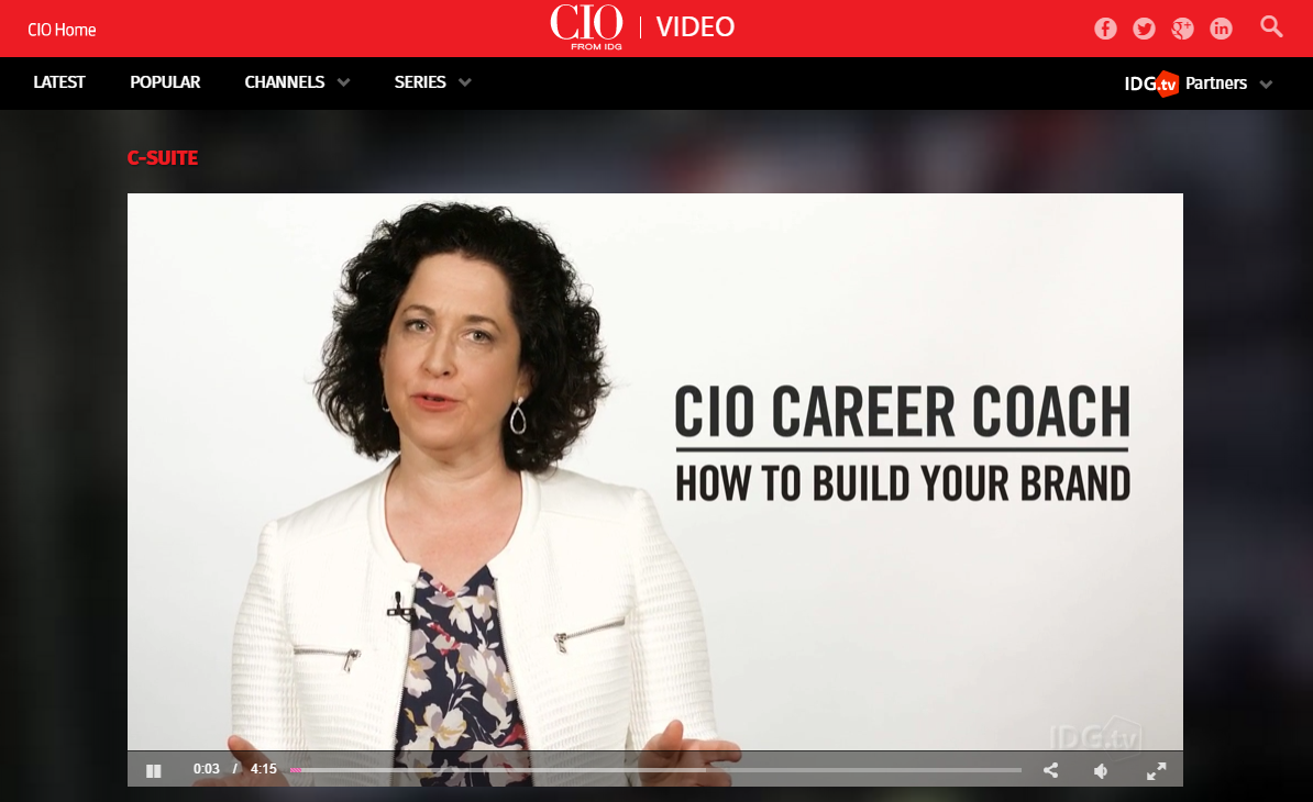 CIO Career Coach. How to build your brand
